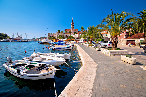 Town of Milna on Brac island waterfront