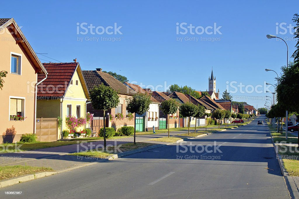 Town of Molve colorful street royalty-free stock photo
