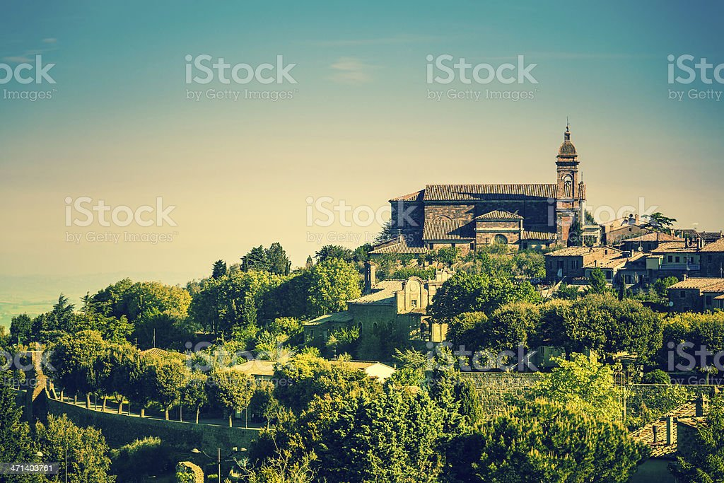 Town of Montalcino in Tuscany, Italy royalty-free stock photo