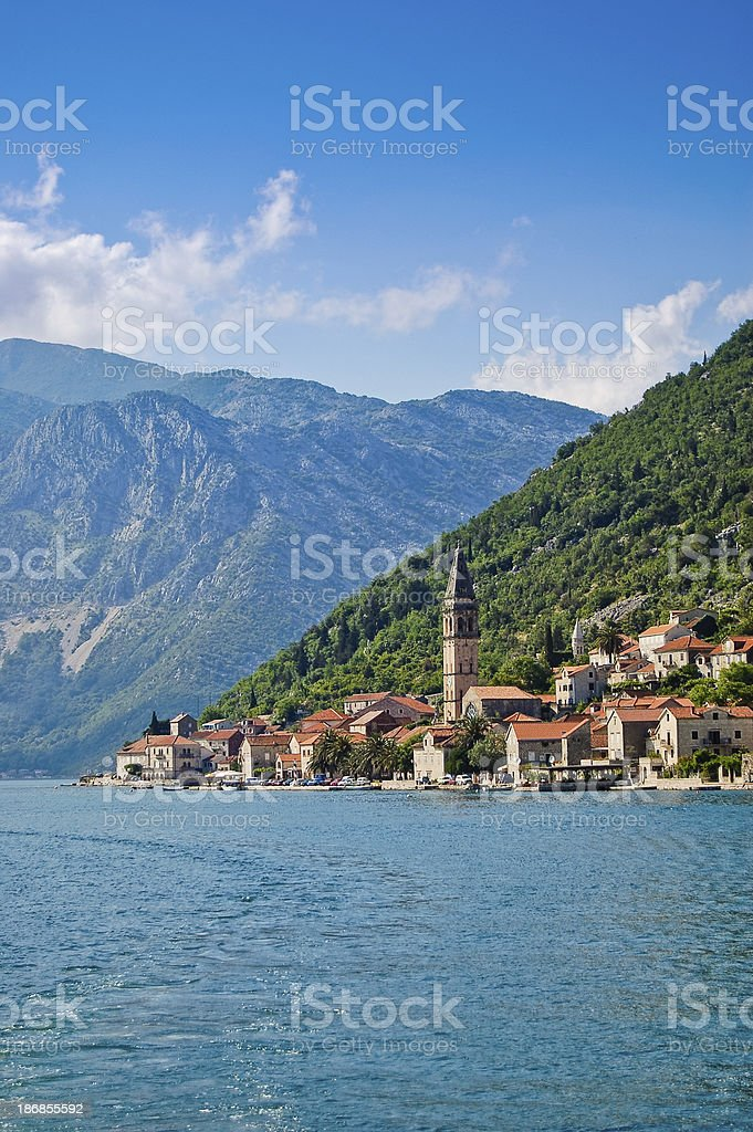 Town of Perast stock photo