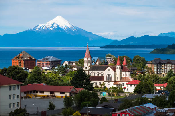 town of puerto varas - south stock pictures, royalty-free photos & images