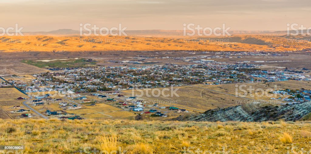 Old Wyoming Postcard - Panorama of Rock Springs - Coal