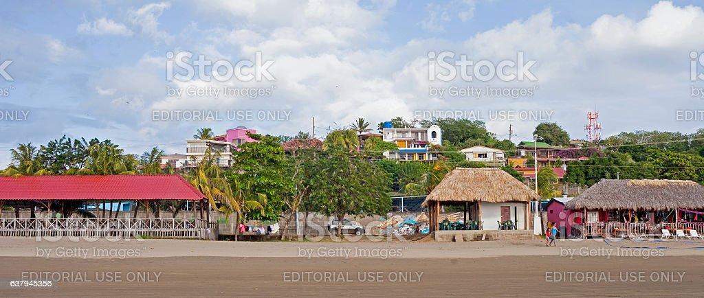 Town of San Juan del Sur stock photo