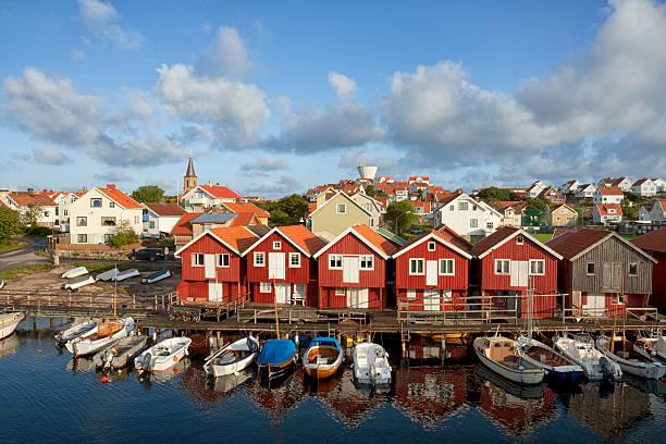 Town of Smögen stock photo