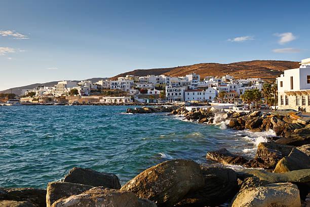 Town of Tinos. stock photo