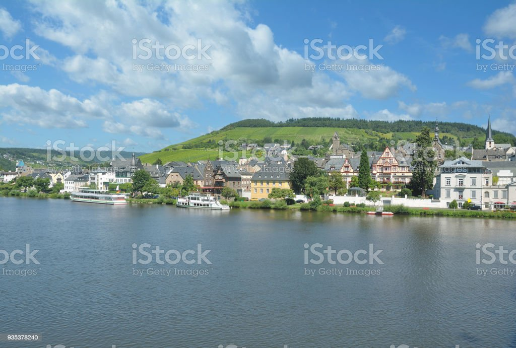 Town of Traben-Trarbach,Mosel Valley,Rhineland-Palatinate,Germany stock photo
