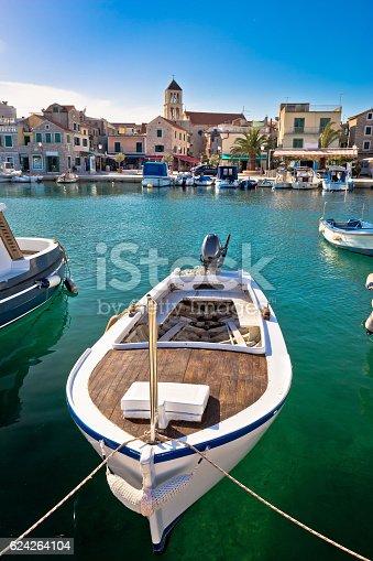 istock Town of Vodice tourist waterfront view, Dalmatia, Croatia 624264104