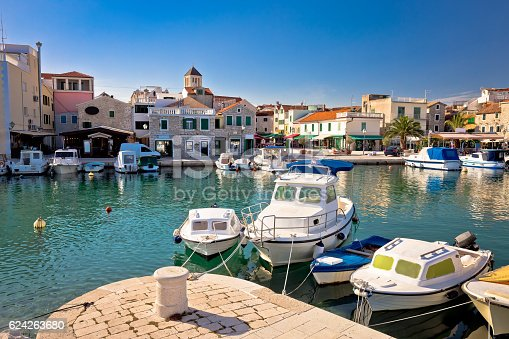istock Town of Vodice tourist waterfront view 624263680