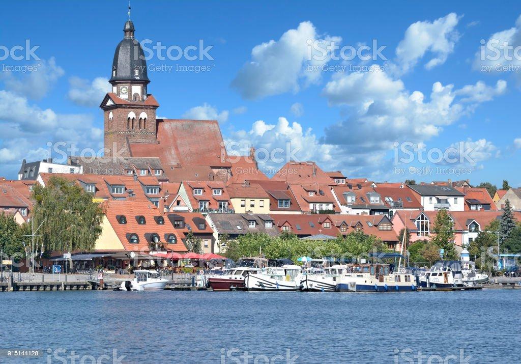Town of Waren(Mueritz),Mecklenburg Lake District,Germany stock photo