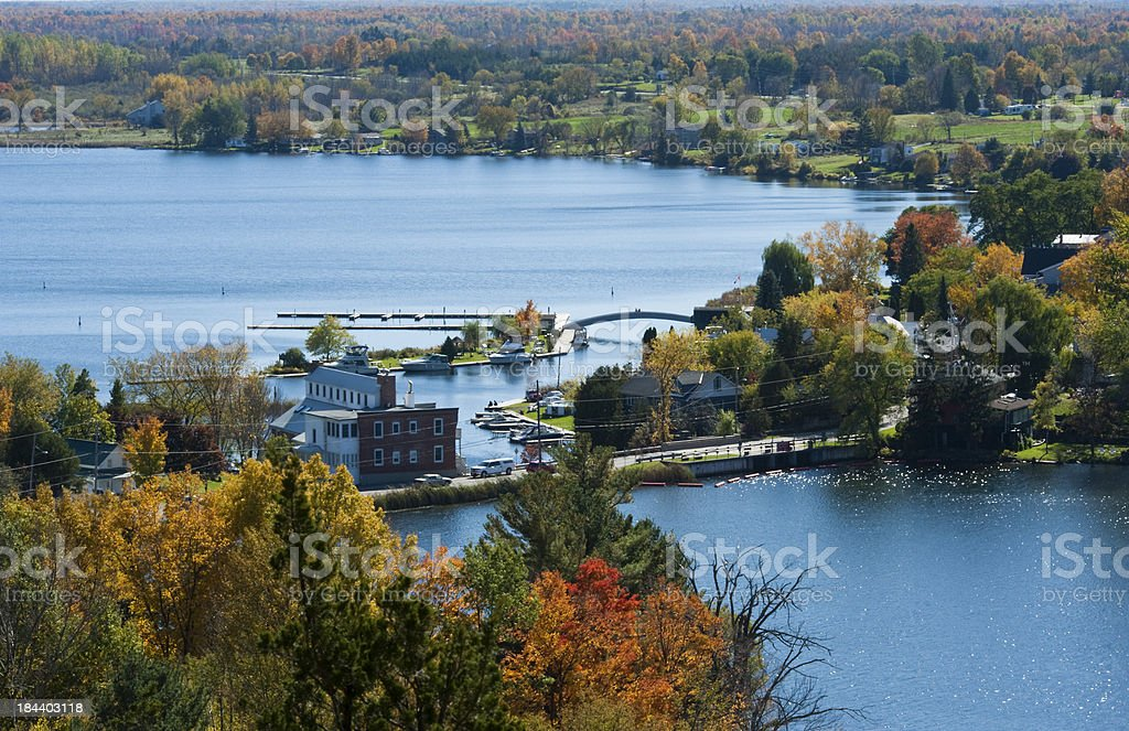 Town of Westport Fall Series stock photo