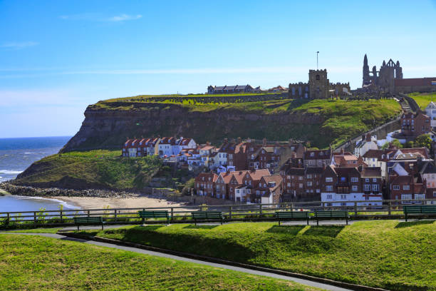 Town of Whitby, North Yorkshire, UK. stock photo