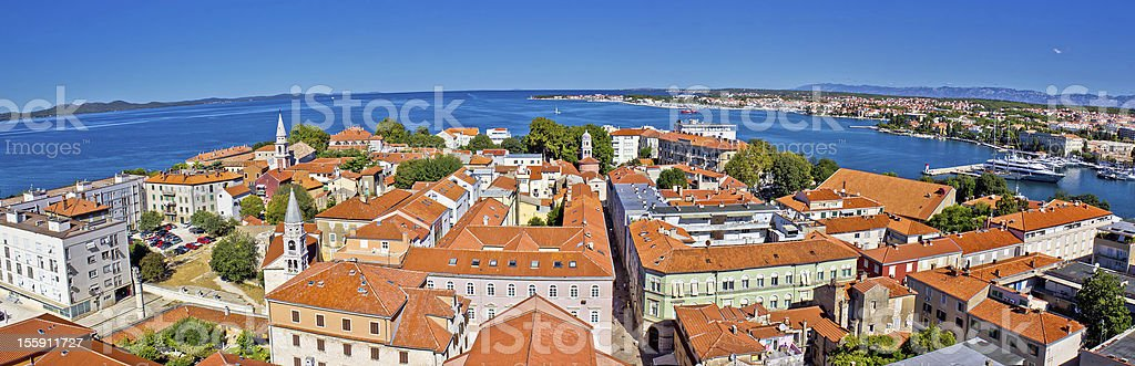 Town of Zadar panoramic view royalty-free stock photo