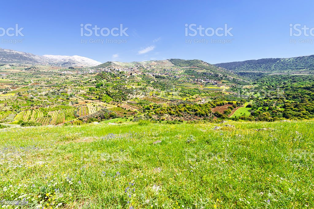 Town on Golan stock photo