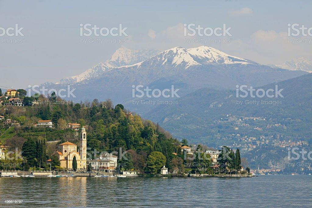 Town on Lake Como stock photo