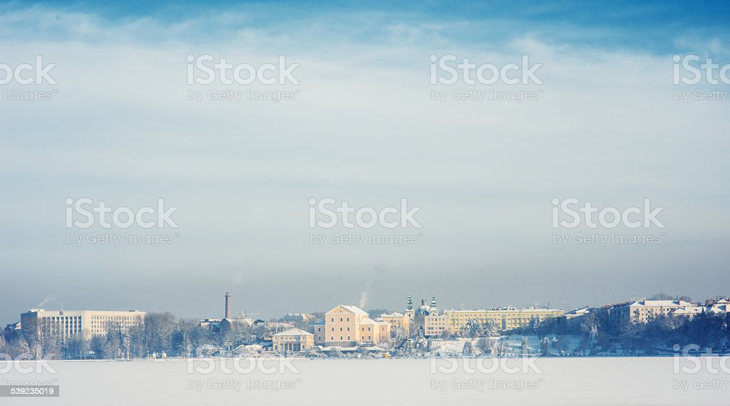 town on the lake royalty-free stock photo
