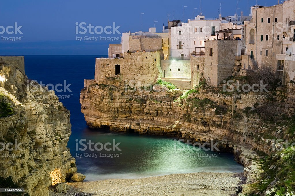 Town on the rocks royalty-free stock photo