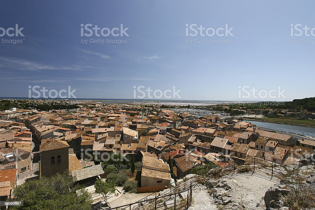 Town overview royalty-free stock photo