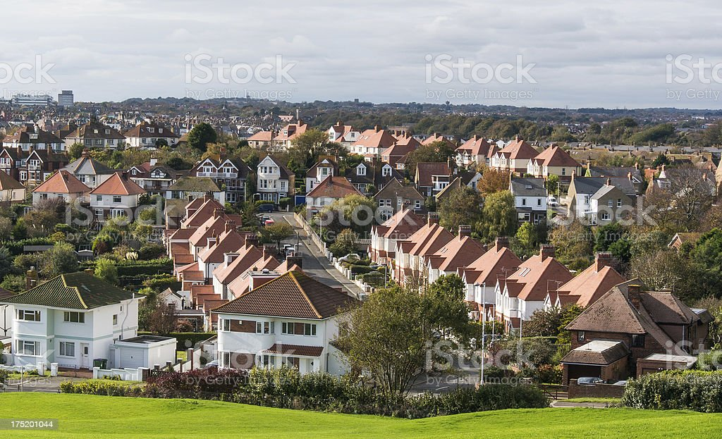 Town rooftops royalty-free stock photo