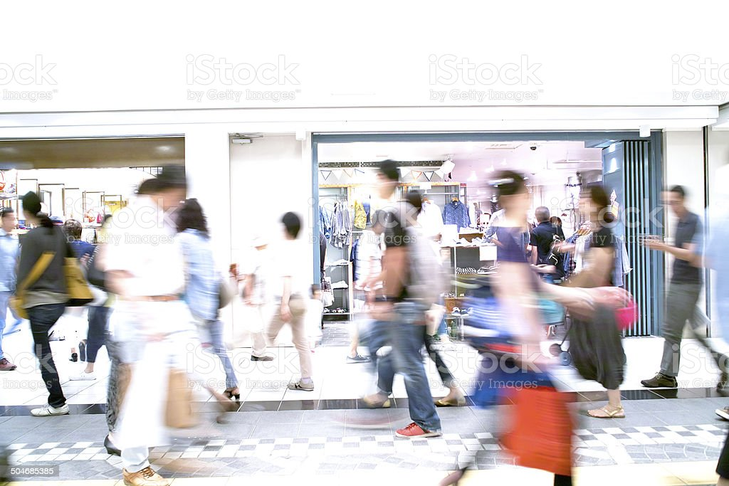 Town Shopping stock photo