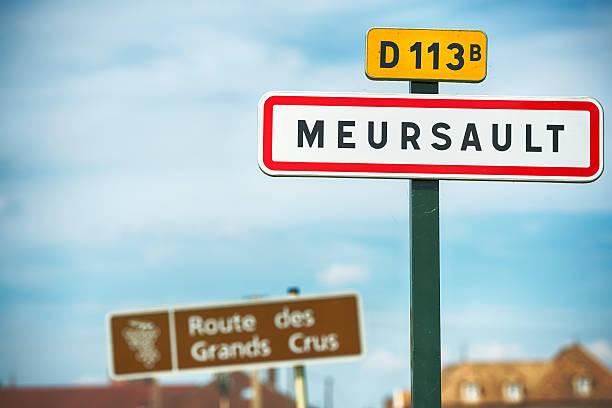 Stadt Zeichen Meursault – Foto