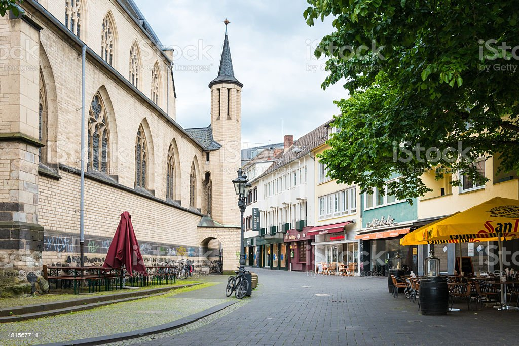 town square at Bonn stock photo