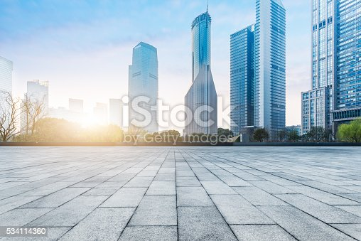 istock town square during sunset 534114360