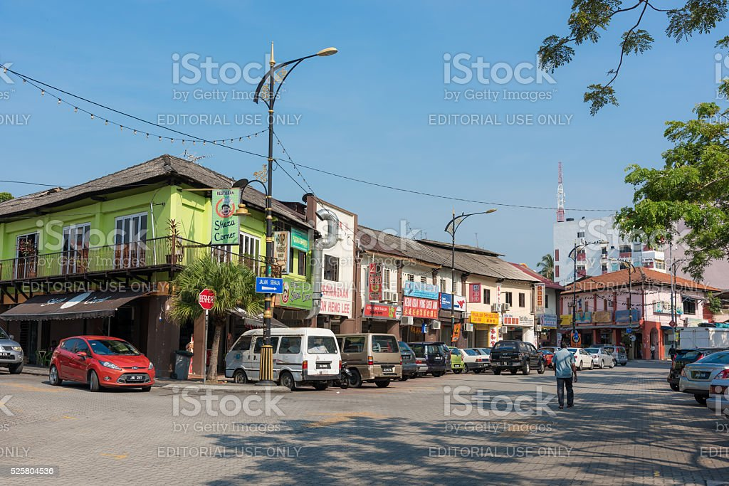 Town square in Johor Bahru, Malaysia stock photo