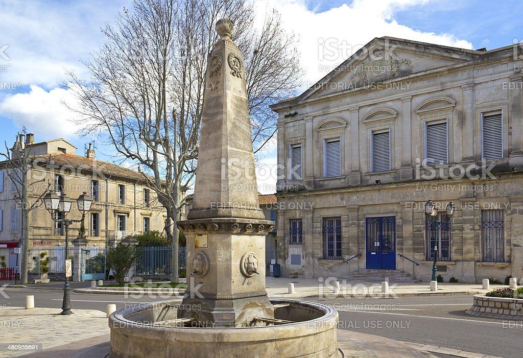 Town Square in Saint-Rémy-de-Provence stock photo