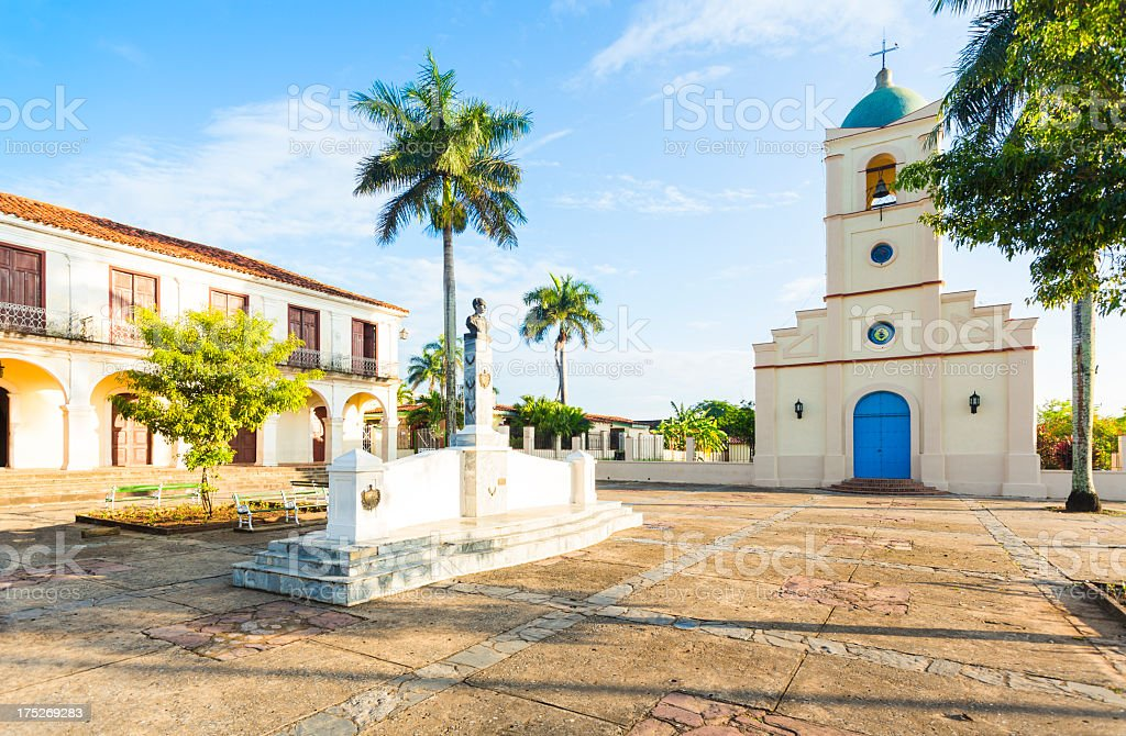 Town square in Vinales, Cuba royalty-free stock photo