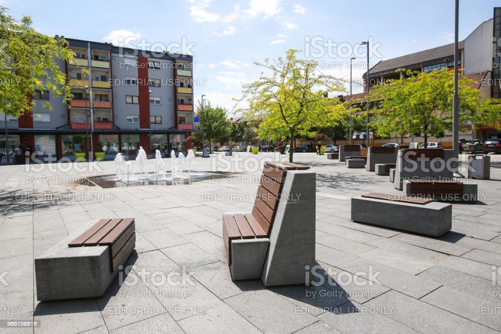 Городская площадь в Зупанье - Стоковые фото Без людей роялти-фри