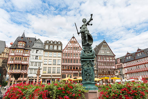 Town square romerberg Francoforte in Germania - foto stock