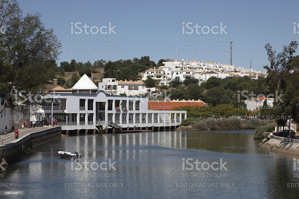 Town Tavira in Portugal royalty-free stock photo