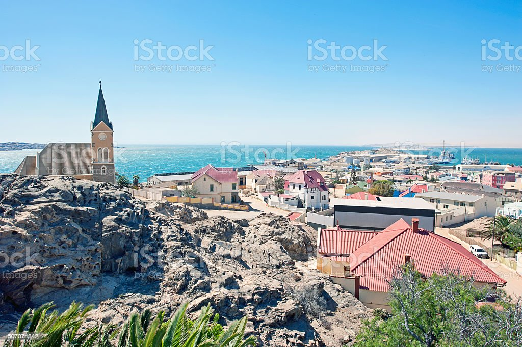 Town view, Luderitz, Namibia, Africa stock photo