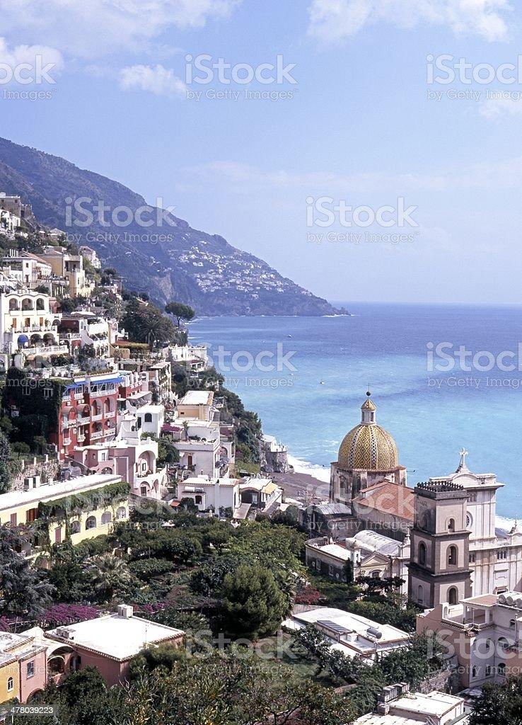 Town view, Positano, Amalfi Coast, Italy. royalty-free stock photo