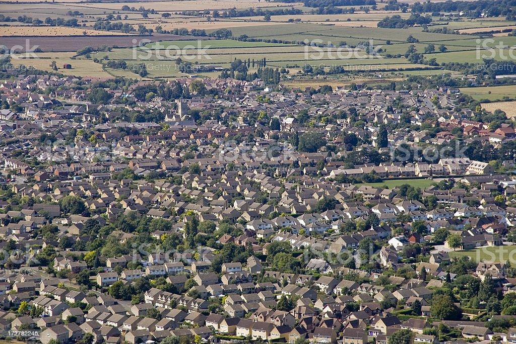 town village stock photo