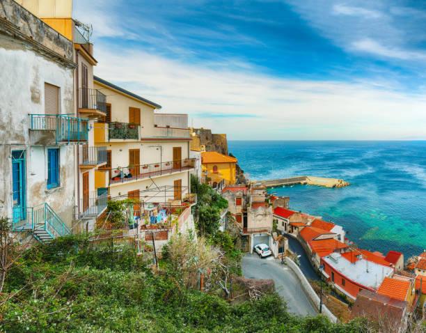town village Scilla stock photo