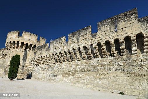 istock Town wall of Avignon 532385184