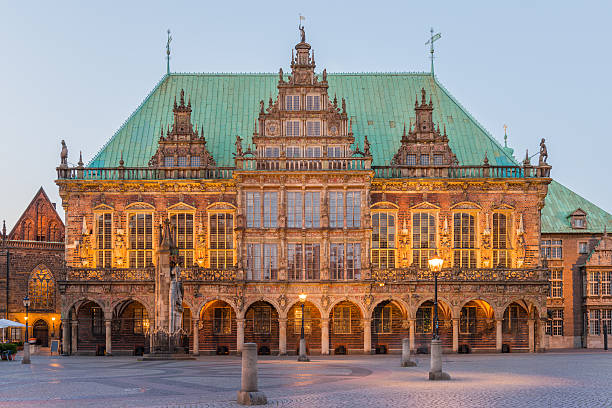 Townhall in Bremen, Germany stock photo