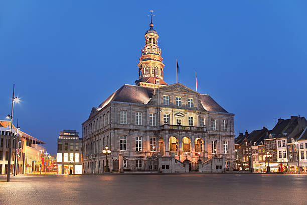 Town-hall in Maastricht stock photo