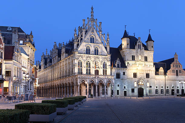Town-hall in Mechelen stock photo