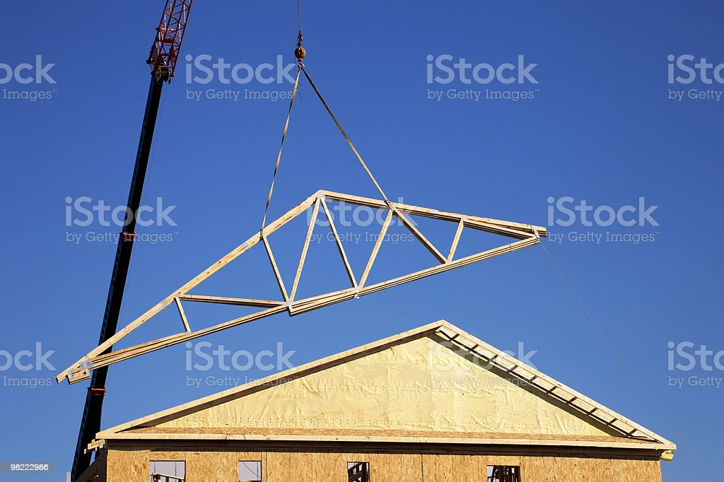 Townhome Construction royalty-free stock photo