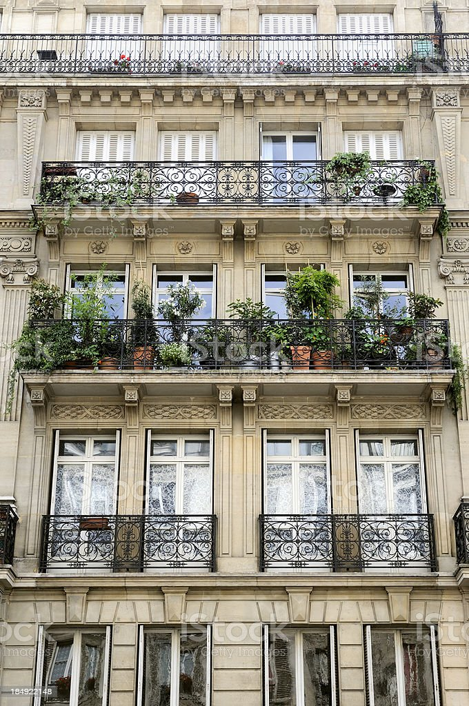 Townhouse Balcony Garden Paris France Stock Photo More Pictures Of