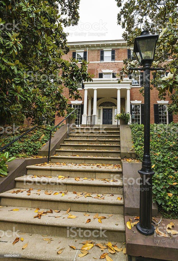 Townhouse in Georgetown, Washington, D.C. stock photo