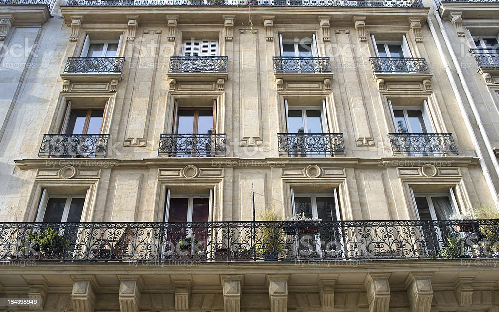 townhouse in Paris France royalty-free stock photo