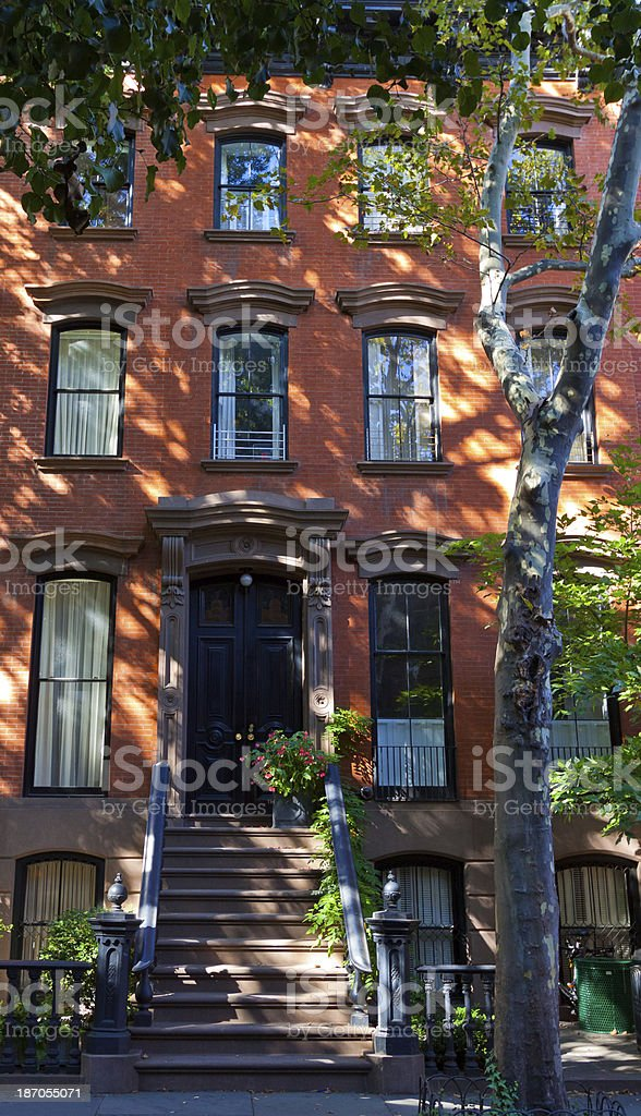 Townhouse in West Village, Manhattan, New York. royalty-free stock photo