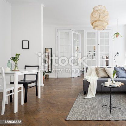istock Townhouse with spacious living room 1188606673