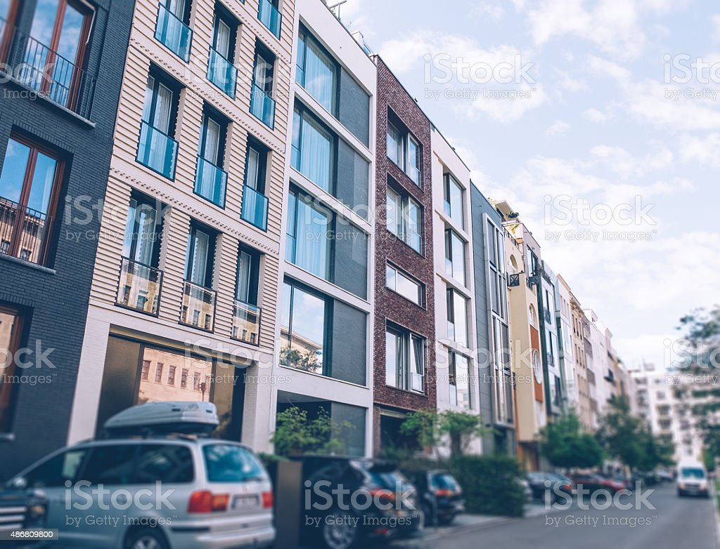 Townhouses at Berlin stock photo