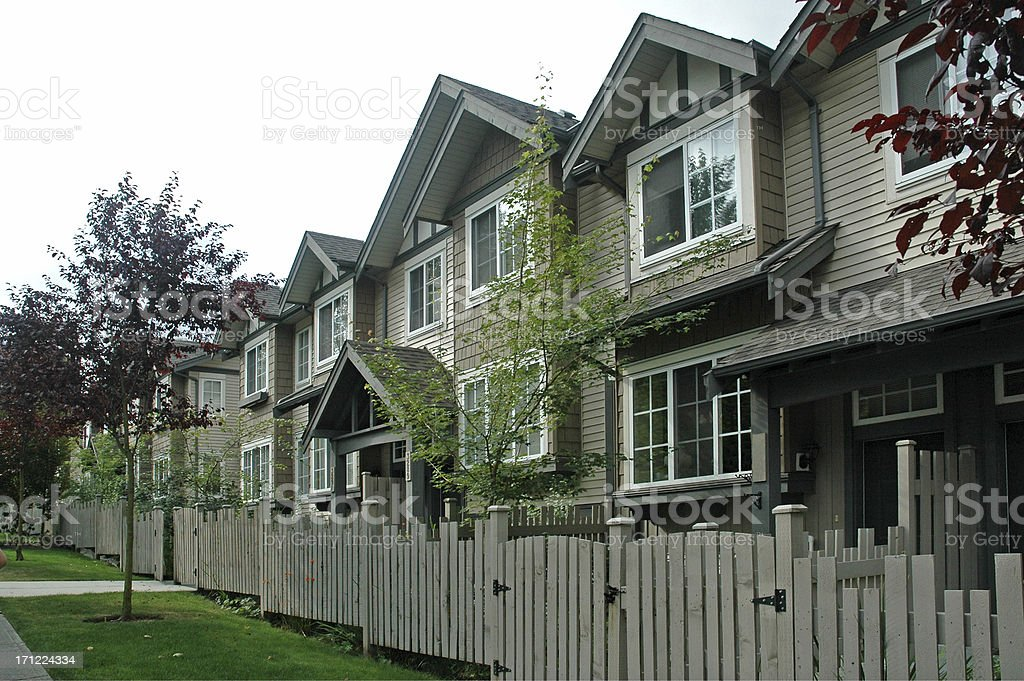 Townhouses complex stock photo