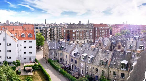 Stadthäuser von oben – Foto