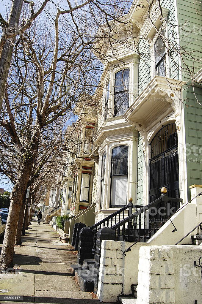 townhouses in San Francisco royalty-free stock photo